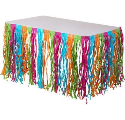 Multicolor Grass Table Skirt