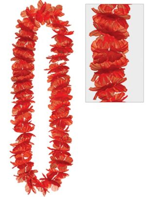 Red Hawaiian Flower Lei