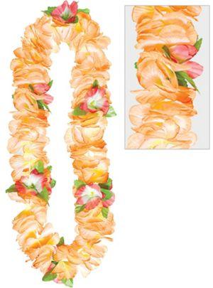 Orange Soft Petal Lei