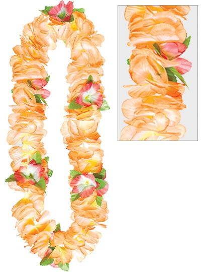 Orange Soft Petal Lei