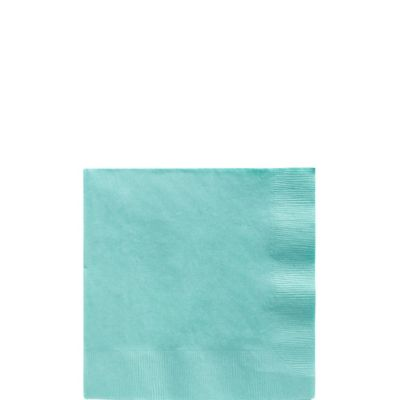 Robin's Egg Blue Beverage Napkins 50ct