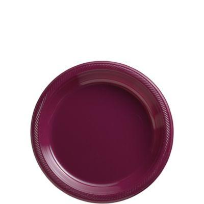 Berry Plastic Dessert Plates 50ct