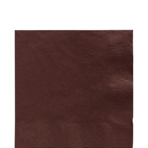 Chocolate Brown Lunch Napkins 125ct