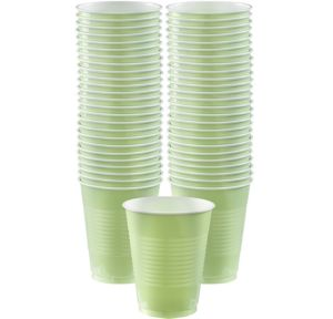 BOGO Leaf Green Plastic Cups 50ct
