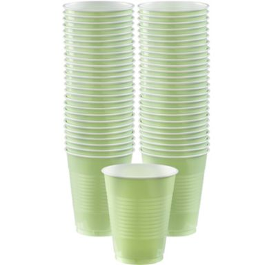 BOGO Leaf Green Plastic Cups 16oz 50ct