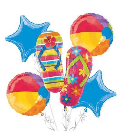 Flip-Flop Balloon Bouquet 5pc