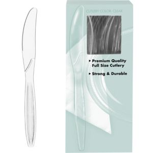 Big Party Pack CLEAR Premium Plastic Knives 100ct