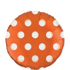 Orange Polka Dot Round Balloon