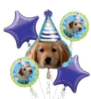 Balloon Bouquet 5pc - Party Pups