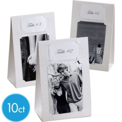 Photo Frame Reception Table Signs Kit 10ct