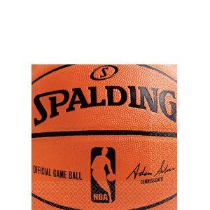 Spalding Basketball Beverage Napkins 36ct