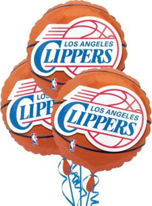 Los Angeles Clippers Balloons 18in 3ct
