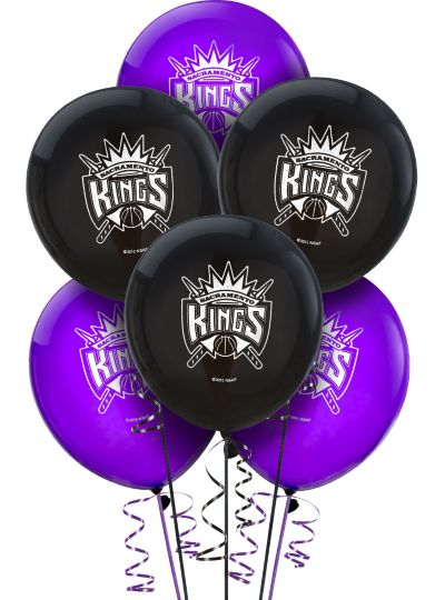 Sacramento Kings Latex Balloon 12in 6ct