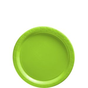 Kiwi Green Paper Dessert Plates 20ct