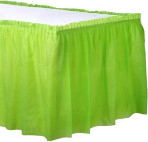 Kiwi Green Plastic Table Skirt