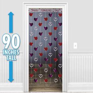 Valentine's Day Heart Door Curtain