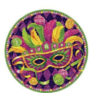 Masquerade Mardi Gras Dessert Plates 8ct
