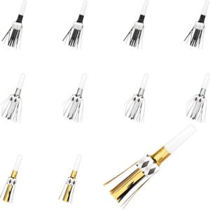 Black, Gold & Silver Fringe Blowouts 24ct