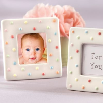 Delightfully Dotted Frame Baby Shower Favor