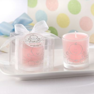 Pink Heaven Scent Candle Baby Shower Favor