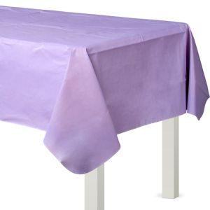 Lavender Flannel-Backed Vinyl Table Cover