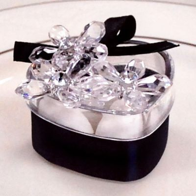 White Floral Pick Wedding Favor Accessory 6ct