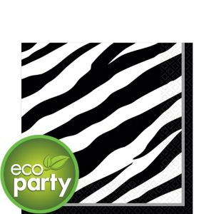 Zebra Print Lunch Napkins 36ct