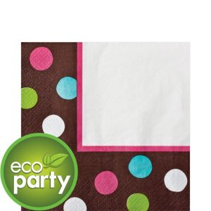 Chocolate & Dots Polka Dot Lunch Napkins 36ct