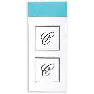 Monogram C Sticker Seals 30ct