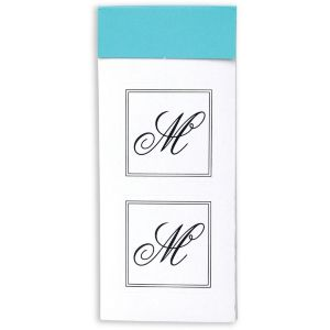 Monogram Envelope Seals M 30ct
