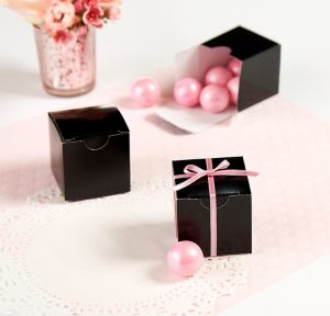 Black Square Favor Boxes