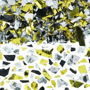 Party Sparkle Silver, Gold and Black Confetti 2 1/2oz