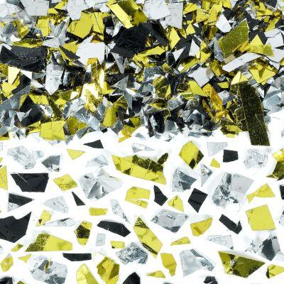 Party Sparkle Silver, Gold and Black Confetti 2 1/2oz