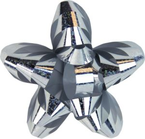Prismatic Silver Star Gift Bow