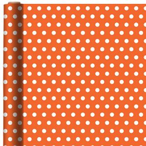 Jumbo Orange Polka Dot Gift Wrap
