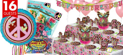 Hippie Chick Birthday Party Supplies Ultimate Party Kit