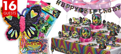 Neon Doodle Party Supplies Ultimate Party Kit