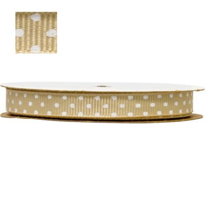 Gold Polka Dot Ribbon