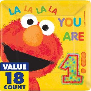 1st Birthday Elmo Lunch Plates 18ct