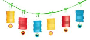 1st Birthday Sesame Street Lantern Garland 12ft