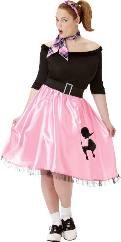 Adult Sock Hop Sweetie 50's Costume Plus Size