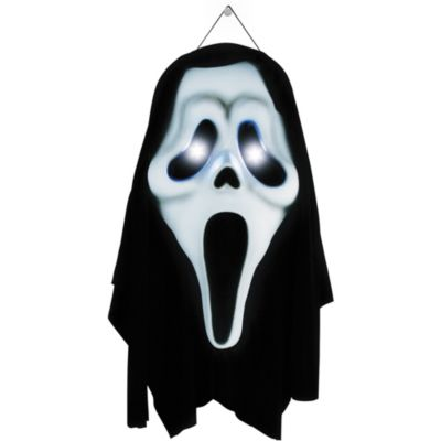 Light-Up Ghost Face Door Decoration