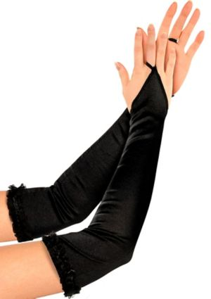 Satin Black Arm Warmers