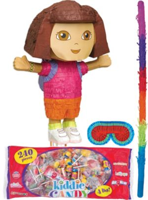 Pull String Dora the Explorer Pinata Kit