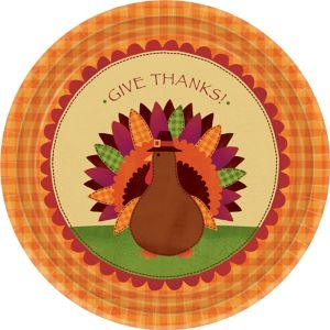 Turkey Dinner Plates 18ct