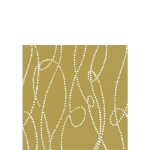 Beaded Stripe Beverage Napkins 16ct