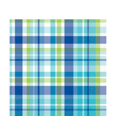 Caribbean Plaid Lunch Napkins 16ct