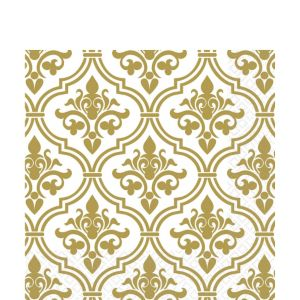 Gold Damask Lunch Napkins 16ct