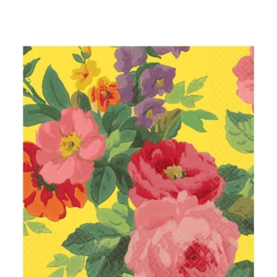 Bright Roses Lunch Napkins 16ct