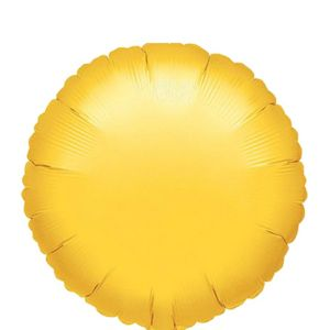 Yellow Round Balloon 18in